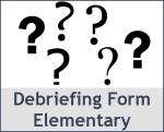 Elementary Project Debriefing Form Service Learning PBL Experiential Learning
