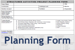Project Planning Form - PBL Service Learning Experiential Learning
